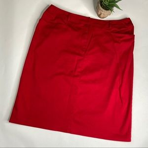 Nygård Collection Red Knee Length Skirt Size 14